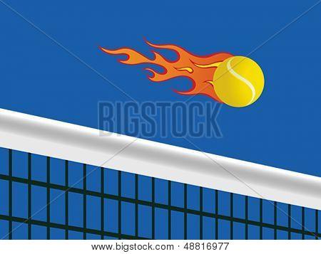 Hot tennis ball.