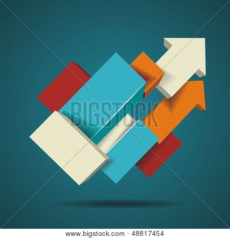 Abstract Distortion From Arrow Shape Background
