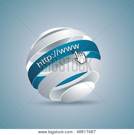 Modern Globe Connections Network Design; Vector Illustration
