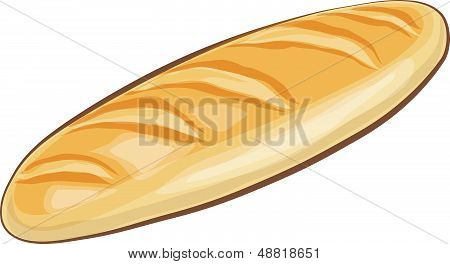 Loaf bread vector isolated on white background.