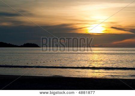 Empty Patong Beach Sunset