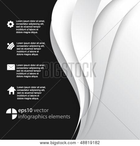 eps10 vector wave elements infographics background