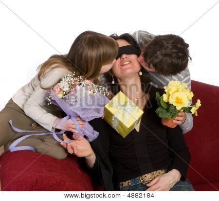 Blindfolded Mother