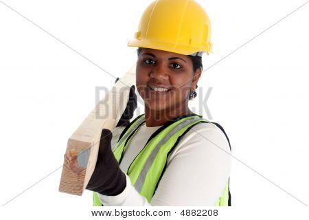 Trabajadora de la construcción
