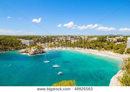 Cala Galdana - one of the most popular beaches at Menorca island, Spain.