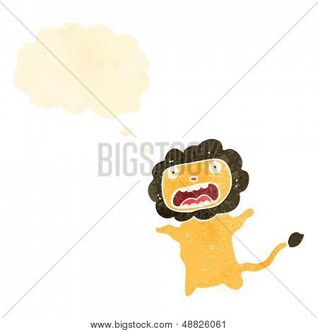 retro cartoon cowardly lion