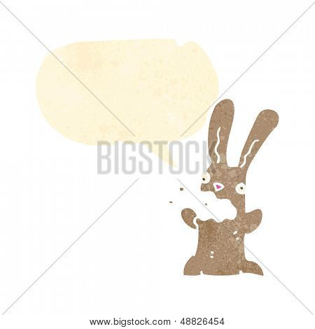 cartoon burping bunny