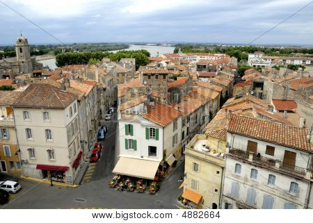 The City Of Arles In France