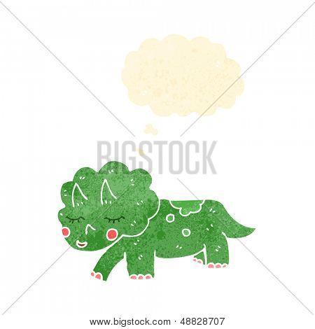 retro cartoon triceratops