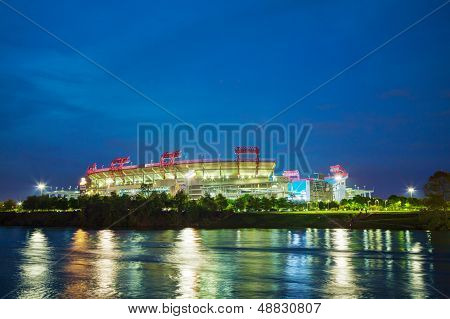 Lp Field In Nashville, Tn In The Evening