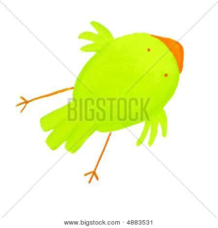 Abstract Green Bird