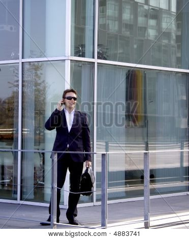 Businessman Outside The Office