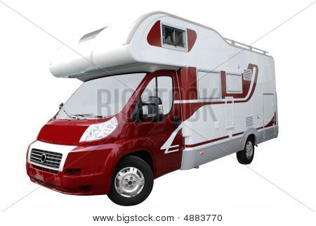 Rv Truck Isolated