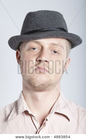 Angry Man In Hat