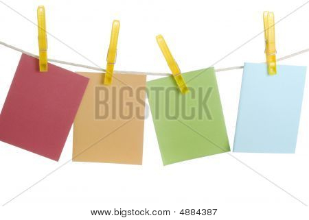 Spring Notecards On Clothesline