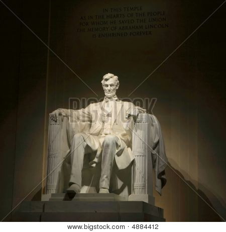 Abraham Lincoln Nightime Portrait