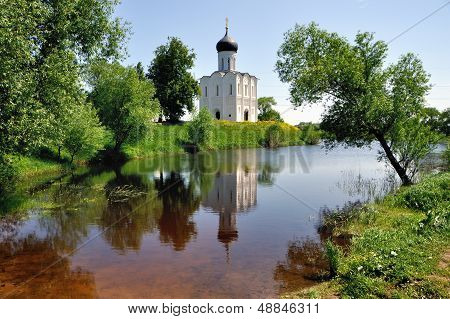 Church of the Intercession on Nerl River Golden Ring Russia