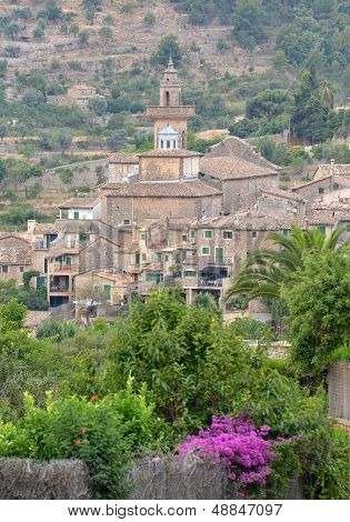 A View Of Valldemossa In Mallorca, Spain