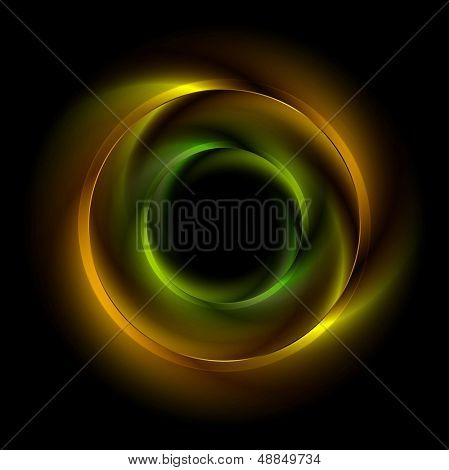 Abstract iridescent circles background. Eps 10 vector logo