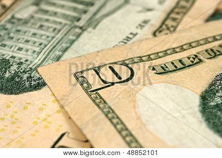 U.S. $10 Currency Bills