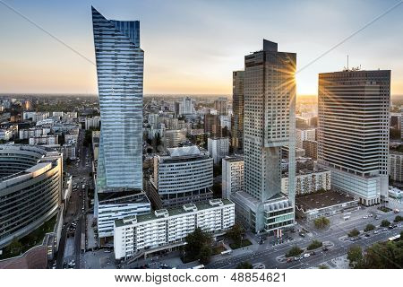 Sundown Over Warszawa City, Poland