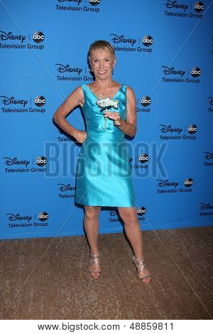 LOS ANGELES - AUG 4:  Barbara Corcoran arrives at the ABC Summer 2013 TCA Party at the Beverly Hilton Hotel on August 4, 2013 in Beverly Hills, CA