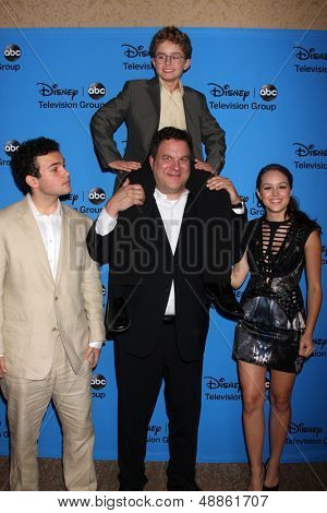 LOS ANGELES - AUG 4:  Troy Gentile, Sean Giambrone, Jeff Garlin, Hayley Orrantia arrives at the ABC Summer 2013 TCA Party at the Beverly Hilton Hotel on August 4, 2013 in Beverly Hills, CA
