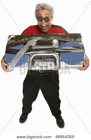 Giddy Man With Boom Box