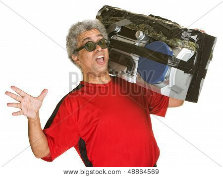Singing Man With Boom Box