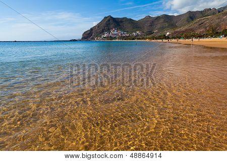 Golden Waters In Las Teresitas Beach