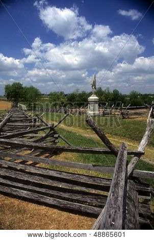 Rail Fences Along The Sunken Road