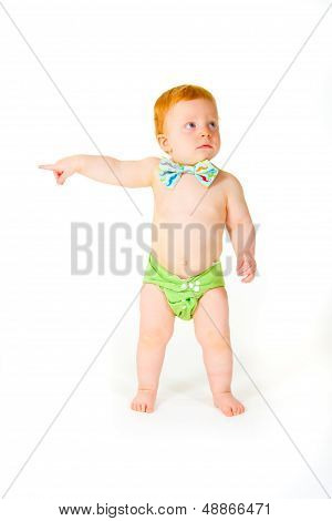 One Year Old In Studio