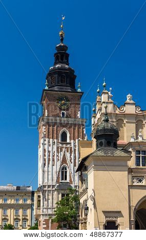 Town Hall And Cloth Hall In Krakow - Poland
