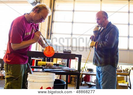 Glassblowing Men