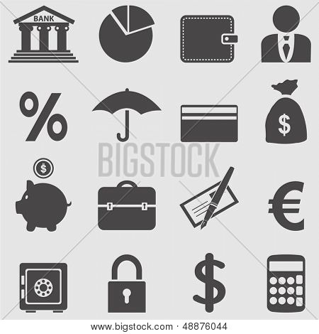 Banking Icons set.Vektor