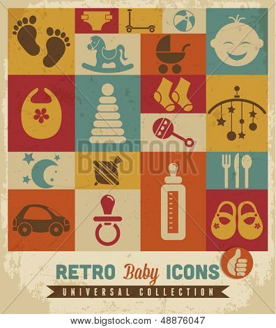 Baby icons set.Vector