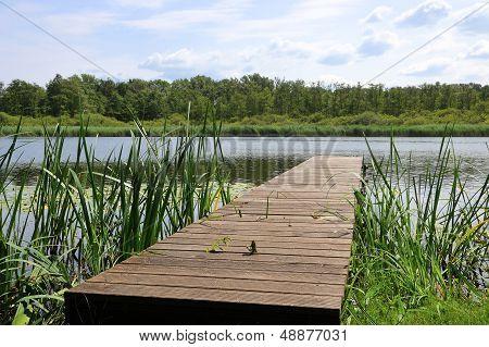 Idyllic location beside a lake in Brandenburg