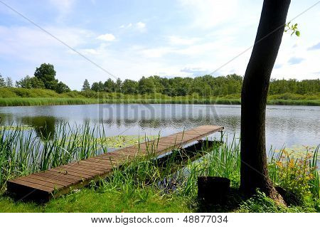 Idyllic location beside a lake in Brandenburg