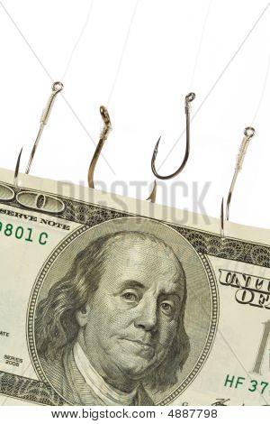 Fishing Hook And Dollar