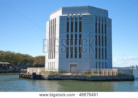 New York City. Peck Slip. A Nighty Of Brookly Battery Tunnel Ventilation