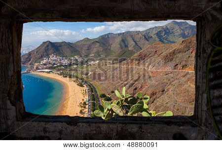 Las Teresitas Beach From An Abandoned House