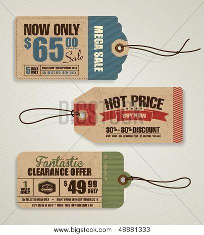 Etiquetas de preço