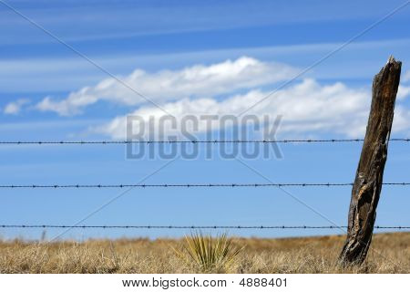 Rural Fence, Clouds & Sky