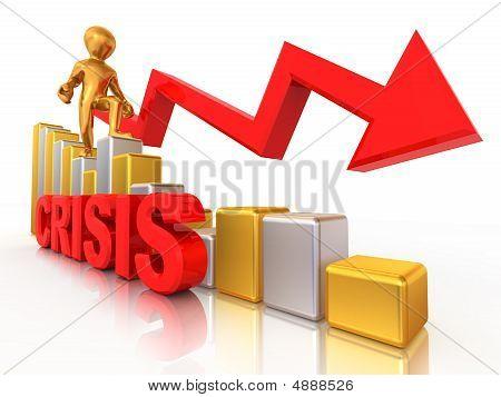 Man On Diagram. Crisis