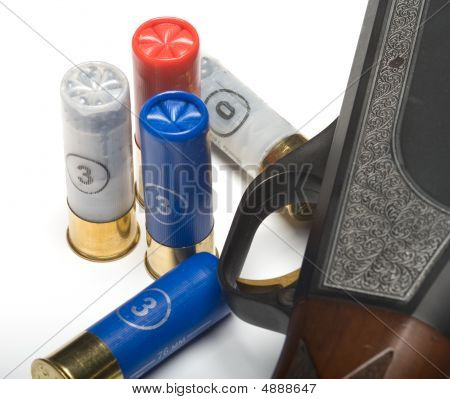 Fowling Piece And Cartridges.