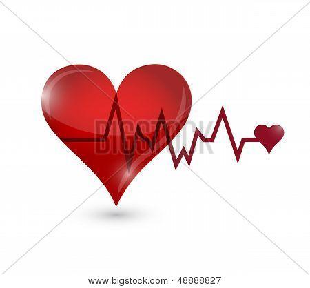 Heart Lifeline Illustration Design