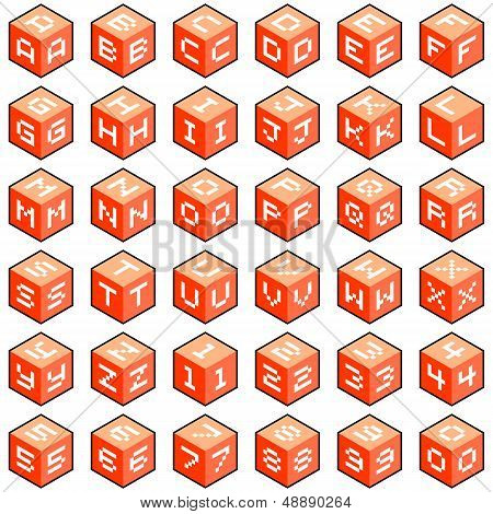 Cube Letters And Numbers
