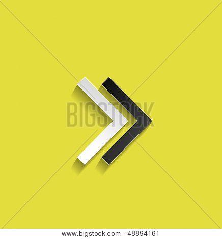 Vector arrow flat design