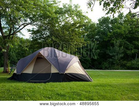 Camping Tent at Campground during Daytime in Woods