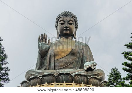 Tian Tan Buddha, Bronze Statue Of A Big Buddha.